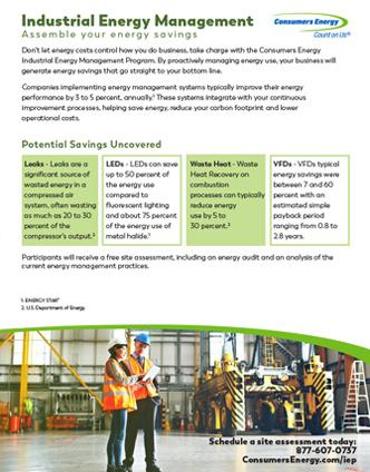 Industrial Energy Management flyers